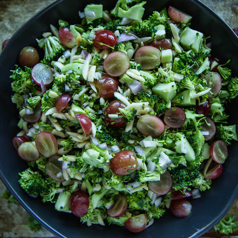 Broccoli, Grape and Toasted Almond Chopped Salad