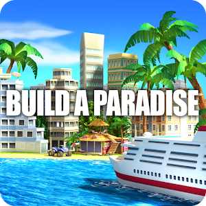 Tropic Paradise Sim: Town Building City Island Bay Icon