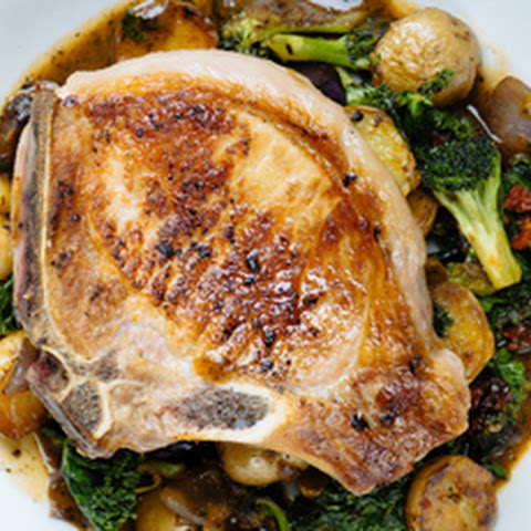 Pan-Roasted Pork Chop with Pan Gravy