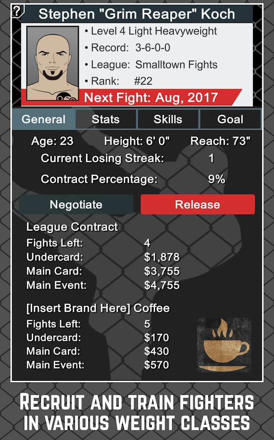 MMA Manager Screenshot 12