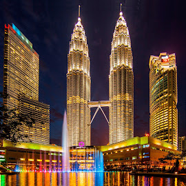 KLCC Park by Biman Sarkar - City,  Street & Park  City Parks ( petronas twin towers, klcc, petronas, malaysia, petronas twin tower, kl,  )