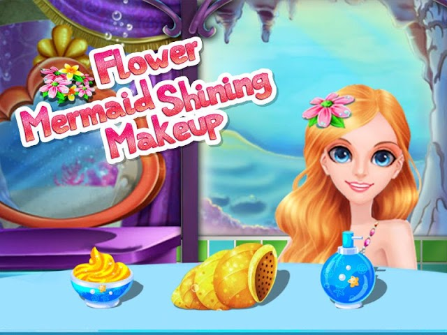 android Flower Mermaid Shining Makeup Screenshot 3