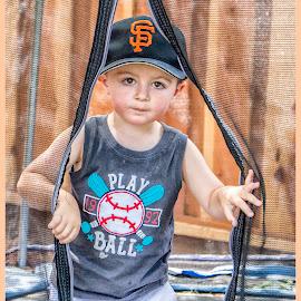 Little Giants baseball fan by Jamie Valladao - Babies & Children Children Candids ( baseball fan, young boy, child, baseball, little boy, giants fan, boy, fan )