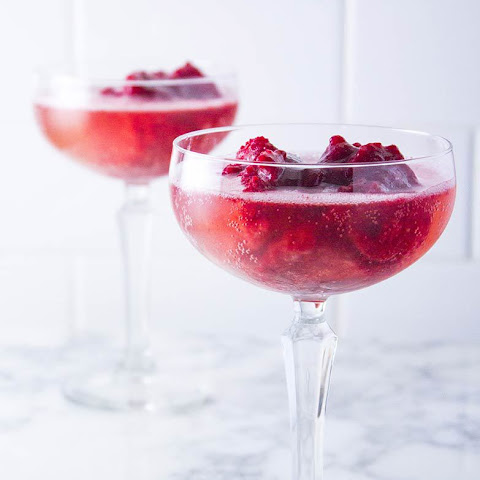 Ginger Raspberry Sorbet Float