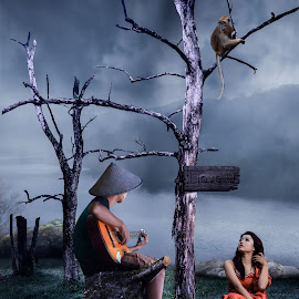 Love story by Muhamad Lazim - Digital Art Places ( dramatic, romantic, lovely, people )