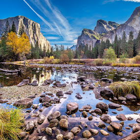 Yosemite Valley by David Long - Landscapes Mountains & Hills (  )