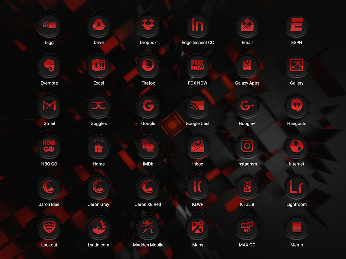 Jaron XE Red Icon Pack Screenshot 15