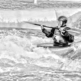 Olympic Dreams by Adam Brett - Sports & Fitness Watersports ( water, watersports, hdr, black and white, olympics,  )