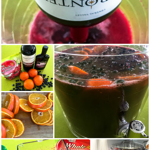 Bronco Berry Super Bowl Sangria