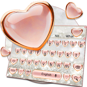 Download Pink Love Diamond Keyboard Theme For PC Windows and Mac