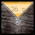 Zipper lock screen leather