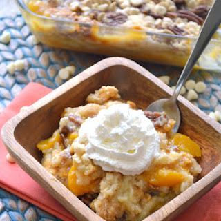 Peaches & Cream Dump Cake