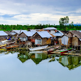 River Houses by Victor Roman - Buildings & Architecture Homes ( houses, samar, reflections, fuji xt1, river )