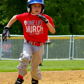 Heading for Home  by Marme Potts - Sports & Fitness Baseball