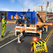 Pothole Repair Heavy Duty Truck: Road Construction Icon