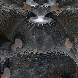 Latticework Benign by Rick Eskridge - Illustration Abstract & Patterns ( abstract, pattern, mb3d, fractal, twisted brush )
