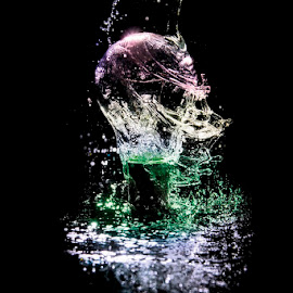 Water in bulb by Soyam Chhatrapati - Abstract Water Drops & Splashes ( abstract, water, splash, splash photography, splash water photography )