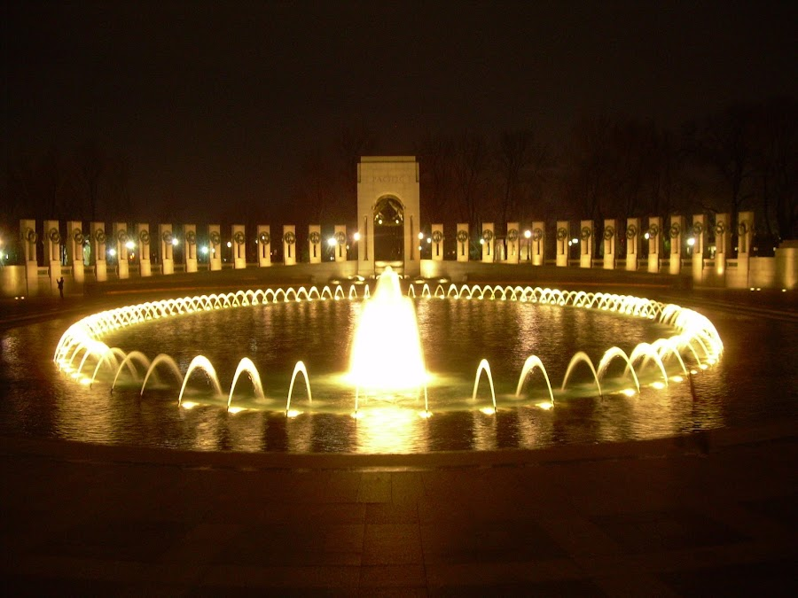 WWII Monument- Ring of Fire by Sherry Klander - Buildings & Architecture Statues & Monuments