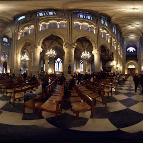 360 of Notre Dame by Katie Ehrlich - Instagram & Mobile iPhone ( interior, paris, notre dame, france, cathedral, 360 )