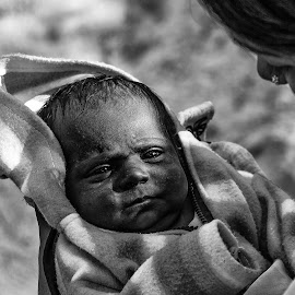 Warmth in Mother's Lap by Uttiyo Das - Babies & Children Babies