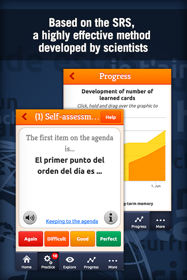 MosaLingua Business Spanish Screenshot 1