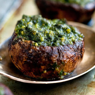 Roasted Pesto-Stuffed Portobellos