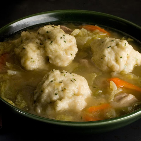 Easy Chicken and Chive-Dumpling Soup