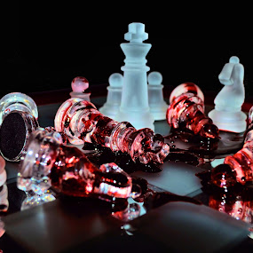 Long live the king by Heather Rivera - Artistic Objects Other Objects ( love, heart, queen, peace, chess, kill, blood, king, war )