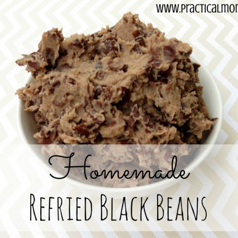 Homemade Refried Black Beans