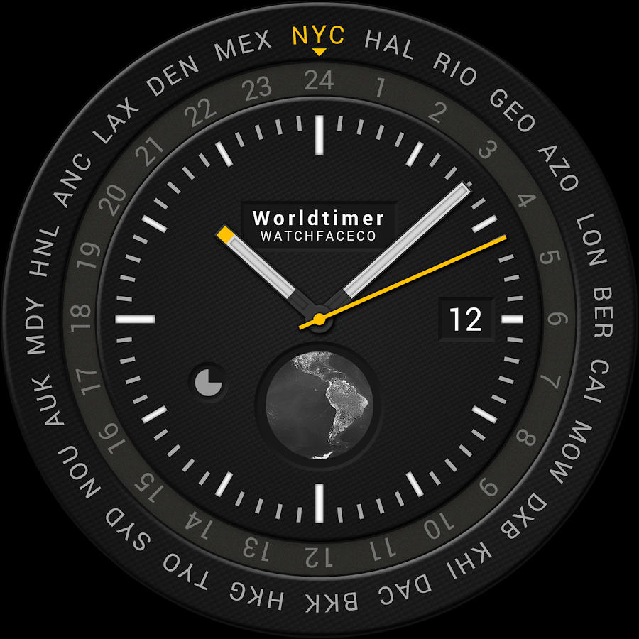 World Timer Watch Face Screenshot 1