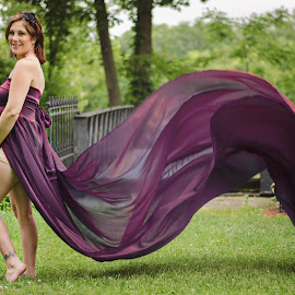 Fourth Little Boy by Jenna Schwartz - People Maternity ( portraiture, maternity, professional photography, ohio, flowing, dress, art, coshocton, outdoor session, custom dress )