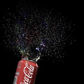 Open happiness by Sebastian Weisshaar - Food & Drink Alcohol & Drinks ( sony, coca cola, cola, splash, watersplash )