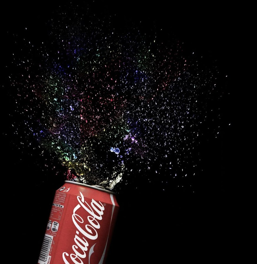 Open happiness by Sebastian Weisshaar - Food & Drink Alcohol & Drinks ( sony, coca cola, cola, splash, watersplash )