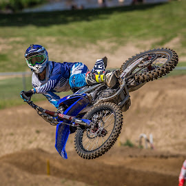Throwing it Down by Kenton Knutson - Sports & Fitness Motorsports ( motorcycle, big air, motocross, dirt, mx, whip )