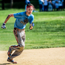 3rd Base Hopeful by A Winston - Novices Only Sports ( team sports, baseball field, baseball, jersey, team, philadelphia )