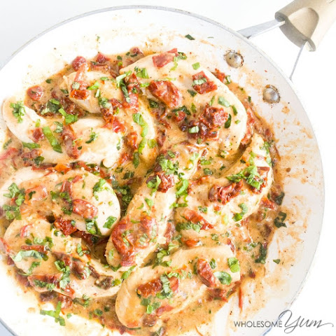 Creamy Sun-dried Tomato Chicken (Paleo, Low Carb)