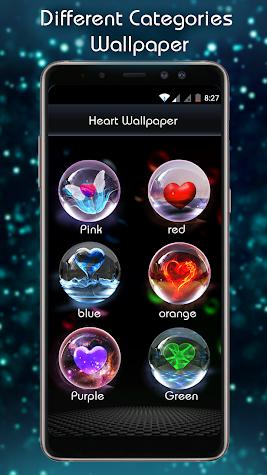 3D Marble Heart (HD wallpaper) Screenshot