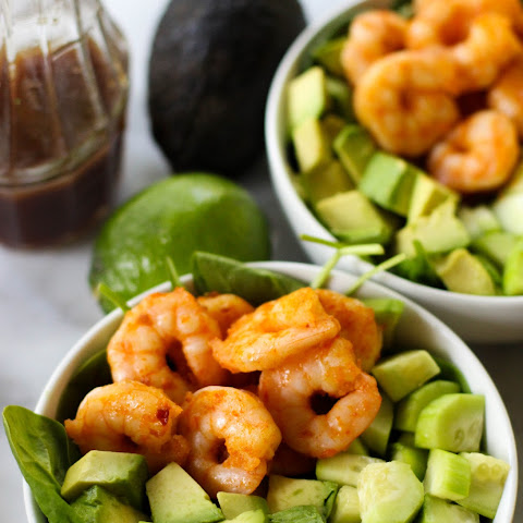Spicy Shrimp Salad with Lime Sesame Dressing