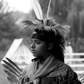Buttonwood Powwow by Shane Hughes - People Portraits of Men
