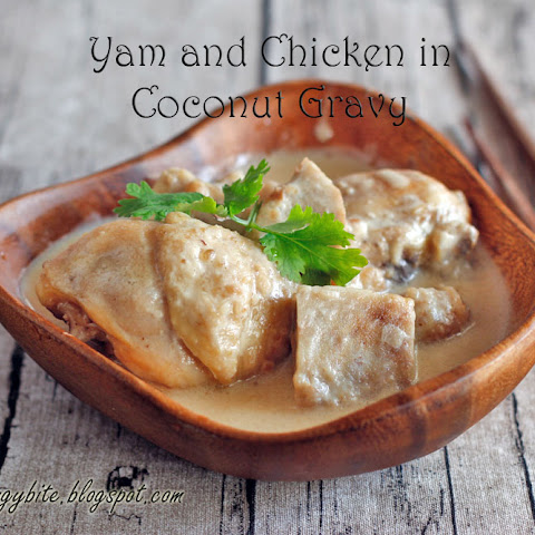 Yam (Taro) and Chicken in Coconut Gravy