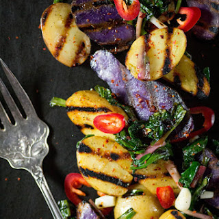 Grilled Potato and Ramp Salad