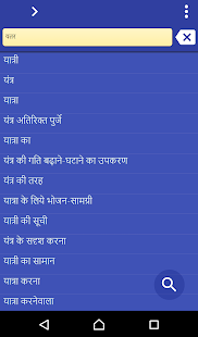 Hindi Punjabi dictionary - screenshot