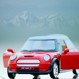 mini cooper  by Mohamed Mahdy - Digital Art Things ( car, red, still life, nikon, mini, mini cooper )