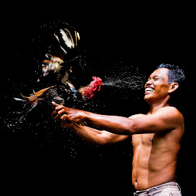 Naughty Rooster by Hendrik Cuaca - People Street & Candids