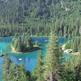 by Serguei Ouklonski - Landscapes Waterscapes ( water, sky, season, tree, flims, lake, forest, rock, travel, landscape, graubünden, alpine )