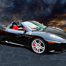 Ferrari - Black and Red by JEFFREY LORBER - Digital Art Things ( merlin auto group, carphotoz, lorberphoto, ferrari, rust 'n chrome, jeffrey lorber )