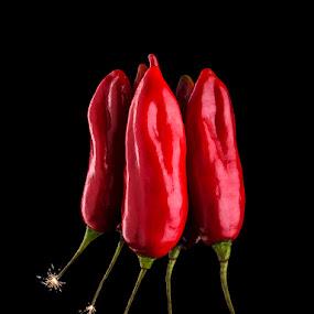 Ají explosivo by Warren Chirinos Pinedo - Food & Drink Fruits & Vegetables ( explotion, aji, red, hot, boom, pepper, ajies, dinamite, ají )