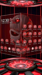 3D Tech Blood Skull Theme Für PC Windows & Mac