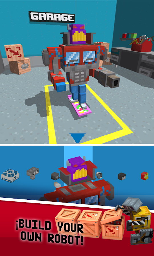 Crossy Robot : Combine Skins Screenshot 2