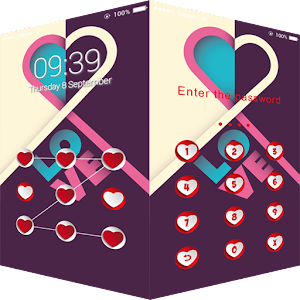 Applock Theme Love Heart